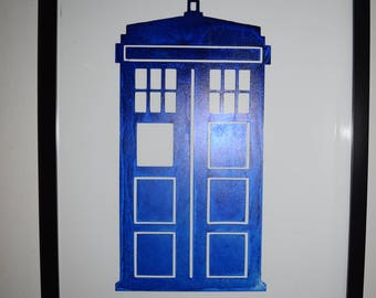 Doctor Who Inspired TARDIS Etched Picture Frame