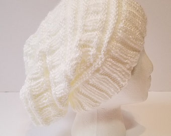 White Slouchy Hat