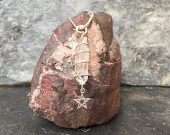 Sterling Silver Crystal Point Necklaces
