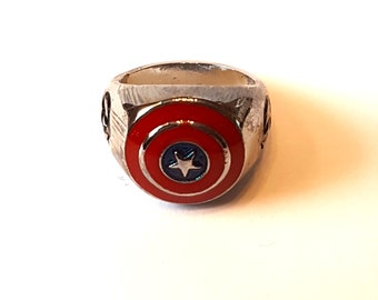 Captain America ring, Avengers ring, Marvel ring, Shield ring, Metal ring, Captain america Shield Ring, Geek gift, Movie gift, Avengers