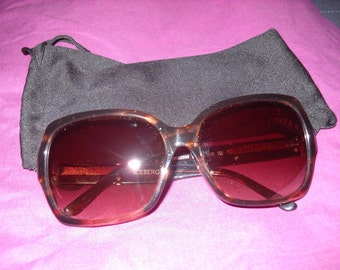 iceberg Women's Brown Tortoise Shell Oversized Sunglasses