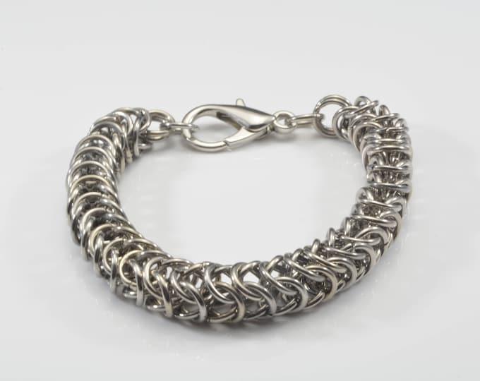 Unisex Handmade Stainless Steel Chainmail Bracelet