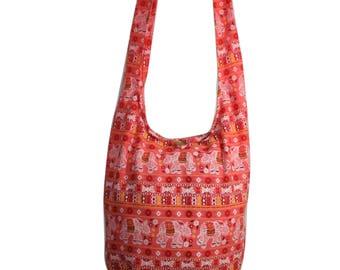 Elephant Hippie Bag Crossbody Bag Shoulder Sling Bag Messenger Bag Purse