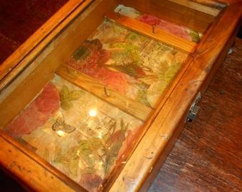 Pine Jewellery or Trinket Display Cabinet