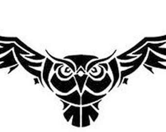 Flying owl stencil - photo#24