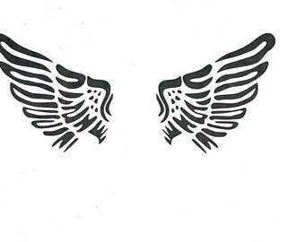 Angel Fairy Wings 190 micron Mylar Stencil durable and sturdy- A5 - A4 - A3 *NEW* - Free UK P & P