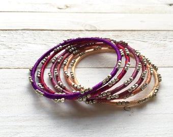 Set of 6 bracelets Bollywood