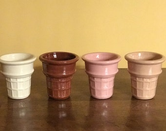 Ceramic Ice Cream Bowls Set of 4