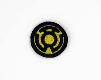 Sinestro Corps Patch, Yellow Lantern Corp Patch, Lantern Corp Patch, Yellow Lantern Corp, Iron On Patch, Yellow Lantern Embroidered Patch
