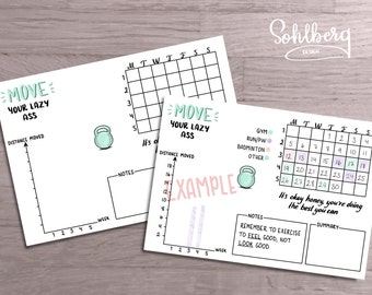 Workout Tracker Planner Bullet Journal