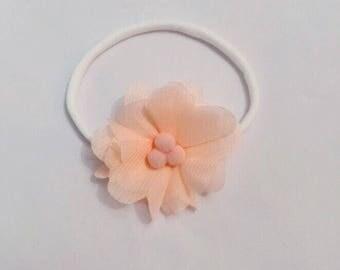 Coral Flower Headband