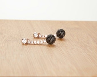Dainty Ball Earring,Everyday earring,Delicate earring,925 Silver,Rose gold Filled,Rose gold Silver,Christmas gift,New year
