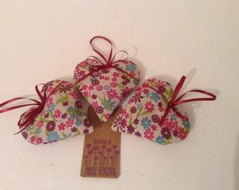 Trio lavender hearts