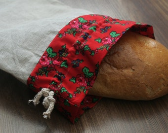 Linen bag for bread. Natural, eco sack. Bread bag, eco bread bag, linen bread keeper