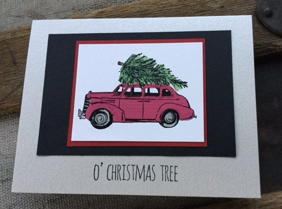 Bringing Home the Tree Card