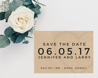Save The Date Template, Minimalist Save The Date, Printable Save The Date, RustIc Save The Date, DIY Save The Date, Save The Date Cards, PDF