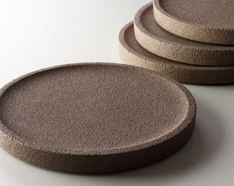 Coaster Brown concrete / / Coasters in concrete / / coaster in concrete / / round coasters / / round Coasters / / round coaster