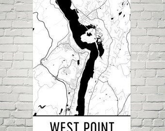 West Point Map, West Point Print, West Point Art, West Point NY Art Poster, West Point Wall Art, West Point Gift, Map of West Point, Art