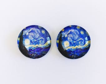The 'Starry Night' Glass Earring Studs