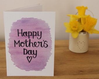 Lilac Mother's Day card, mother's day grandma, hand lettered Mother's Day card, purple Mother's Day card, like a mum card, mother figure