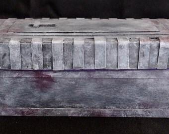 Hand made, gothic,dark art,goth,vampier,occult,  jewelry box,tomb box,desk tidy