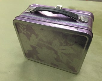 Custom painted lunch pail, lunch box, purse, case