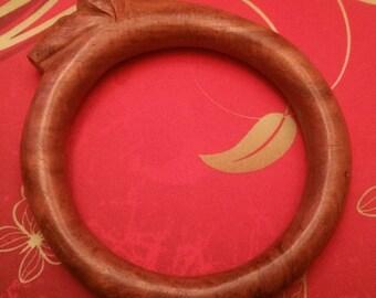Vintage Hand Carved Horse Head Bracelet