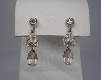 Antique Sterling Silver Dangle Drop Earrings LOVELY .925