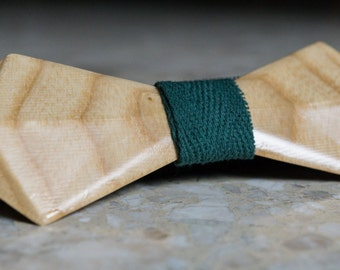 Wood Bow Tie, Wooden Bow Tie, Bow Tie, Bowtie, Triangle Bow Tie