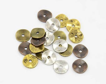 25 pc Mixed Wavy Disc Spacers approx 10mm