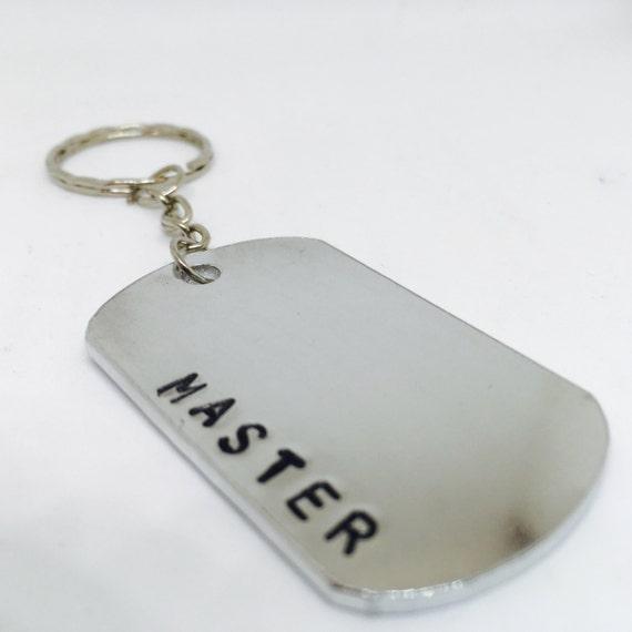 Master, valentines gift, master Gift, my master, dominant, DDLG Keyring, Dom, BDSM Lifestyle gift, hand stamped, bdsm, master key chain