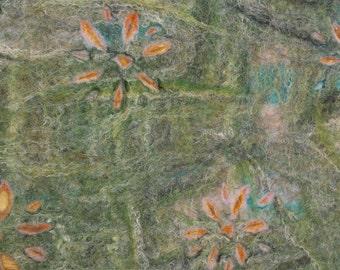 Green flower felt