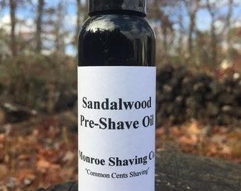 Sandalwood Pre-Shave Oil 2.0oz Bottle