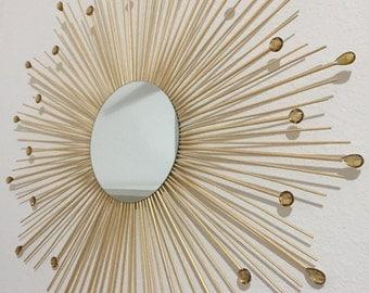 """30"""" Gold Starburst Mirror"""
