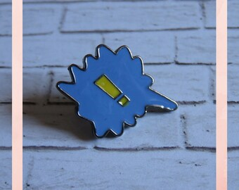 Exclamation Mark | !!! Pin | Speech Bubble Enamel Pin | Cute Hard Enamel Pin | Blue Cloisonné Pin | Geeky Lapel Pin | Nerdy Brooch |