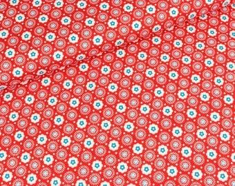 Cotton Geisha flower red (10.50 EUR / meter)