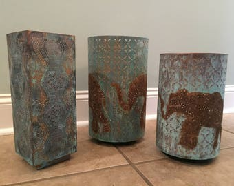 Beautiful Patina Lanterns