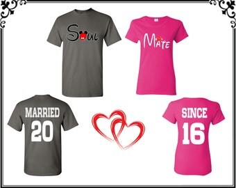 Soul Mate Married Since Couple T shirts Soul Mate Couple T shirt Soul Mate Front Back Married Since Couple T shirt Gift For Couple