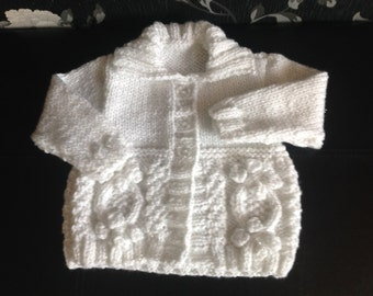 Hand knitted Sparkly Baby toddler chunky cardigan