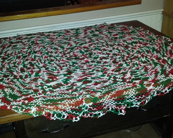 Crocheted Christmas Tablecloth