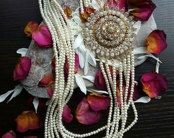 Pearl maala necklace asian wedding bridal eid jewellery