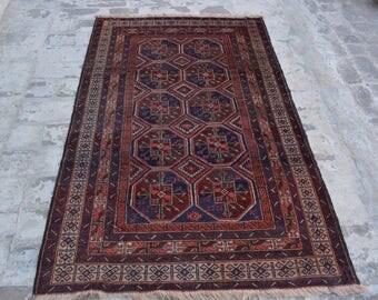 Afghan Handmade rug,/ 100% wool rug