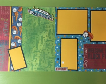 Volleyball2 - 12x12 premade scrapbook layout