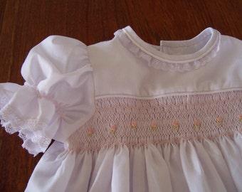 Hand Made, Hand Smocked, Square Yoke Dress