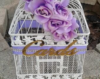 Large Wedding Card Box /Wedding Bird Cage / Birdcage Card Holder / Wedding/ Card Box/Bird Cage/ Reception/Large Card Holder/ Bird