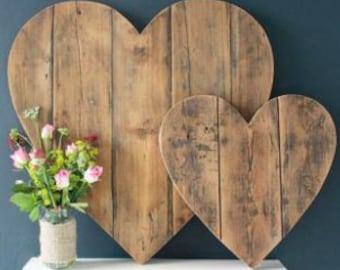 Large Wooden Decorative Heart Large