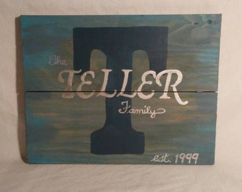 Made to order family name wall plaque