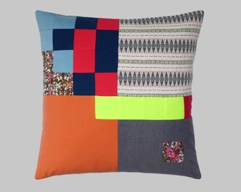 SALE 10% off! * Patchwork Cushion cover / patchwork Cushion cover