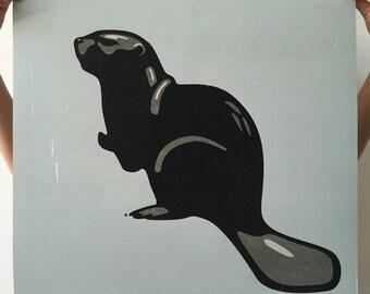 Beaver Print, Beaver Poster, Beaver Art, Beaver, Beaver Art Print, Beaver Wall Art, Black Beaver Art, Beaver Wall Decor