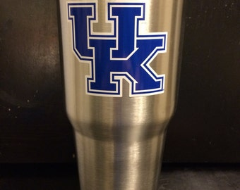 University of Kentucky Wildcats  Ozark Trail 20 oz & 30 OZ Tumbler cup mug glass NEW in White